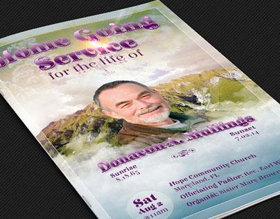 Funeral Service Program Photoshop Template