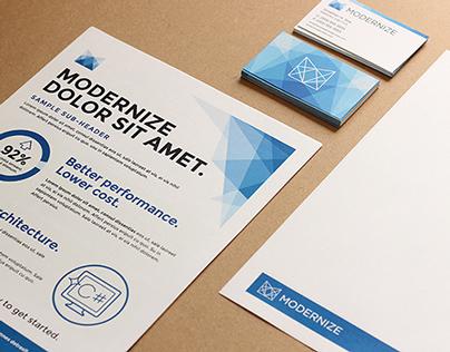 Modernize Branding + Stationery