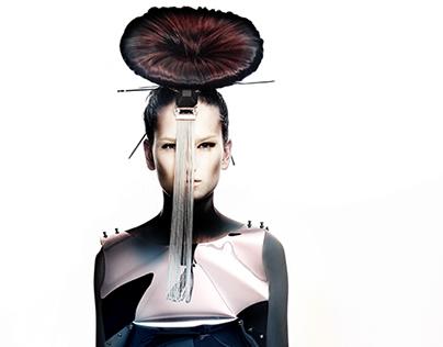 Photoshoot for hairdresser artist Romana Topinkova