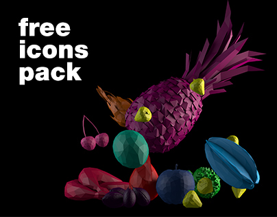 Free Icons Pack - Fruits&Vegs