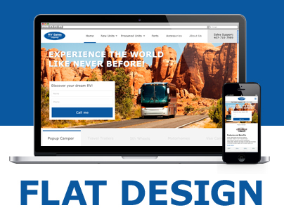 RV Sales - Flat Web Design
