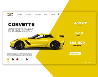 Chevrolet Corvette (Concept Website for DailyUI)