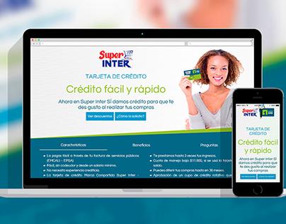 Tarjeta de Crédito Super Inter