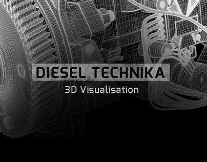 Diesel Technika - 3D Visualisations