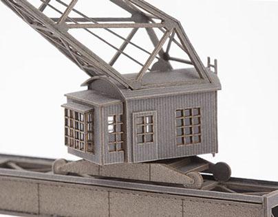 Gantry crane in 1:220 scale