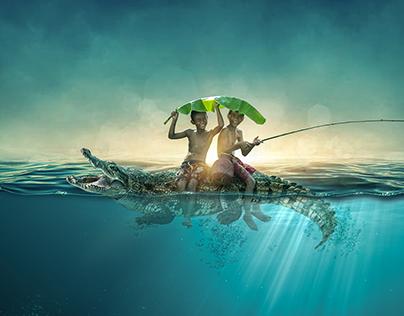 UNDERWATER FISHING MANIPULATION
