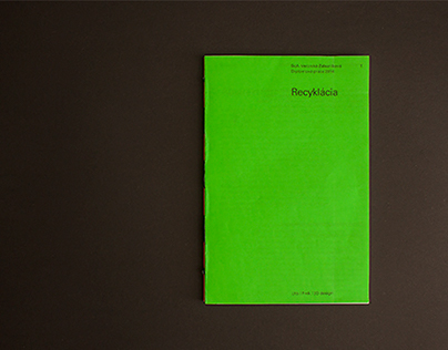 Recyklácia – book design