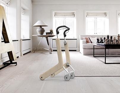 Indoor rollator