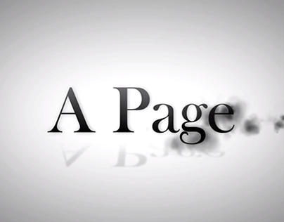 Text Animation - A Page