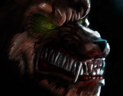 Werewolf digital paint