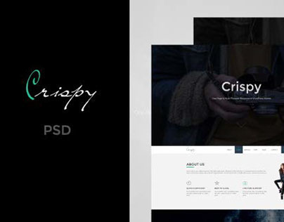 Crispy | One Page PSD