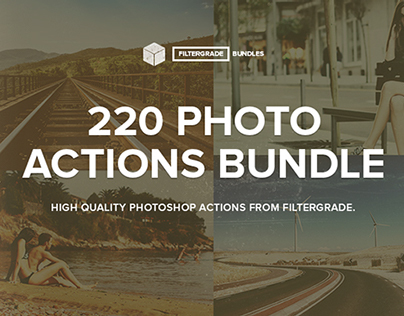 FilterGrade 220 Photo Actions Bundle