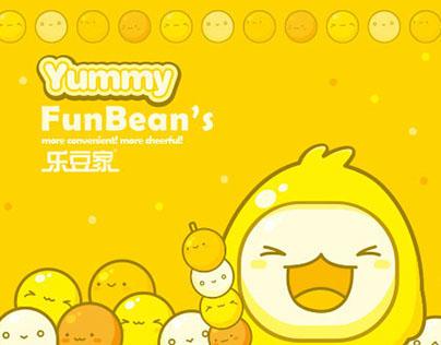 FUNBEAN'S Convenience Store Mascot Design
