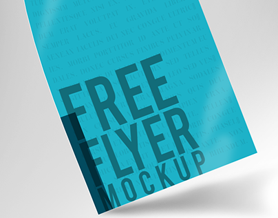 Free PSD Flyer Mockup // Freebies