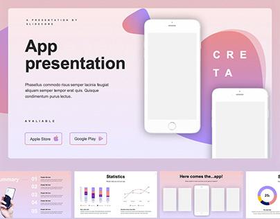 Free • Creta App Presentation Template