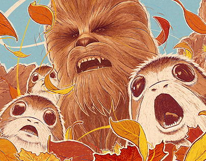 Chewie and Porgs