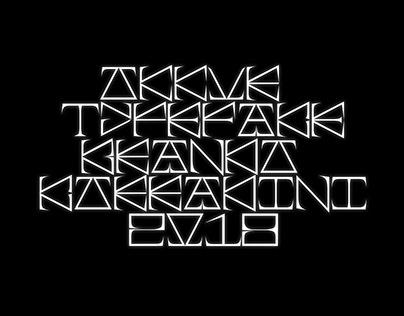 Okkur typeface