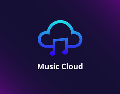 Music Cloud Logo Design ( Abstract Music + Cloud )