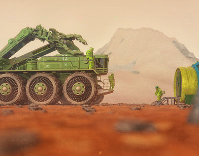 Martian construction vehicle. For 2061.su project
