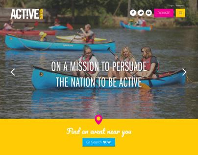 Active Nation - UX/UI design