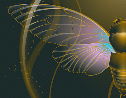 Ghost Cicada | Ayuthia Spectabile