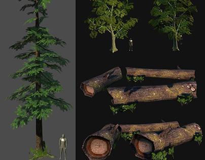 3D Vegetation (LowPoly)