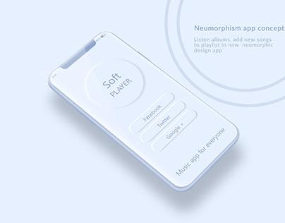 Neumorphism App Concept