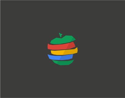 Logo Maçã Verde Design