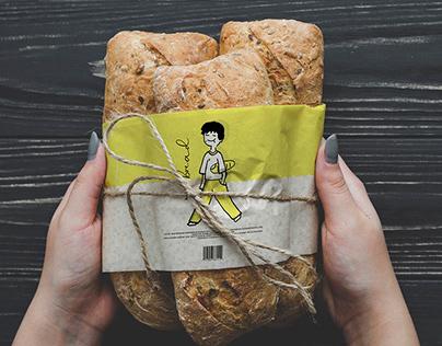 Bread pack design.