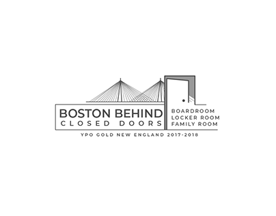 Boston Behind Closed Doors Logo Design