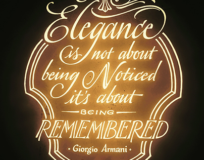 The thing about Elegance