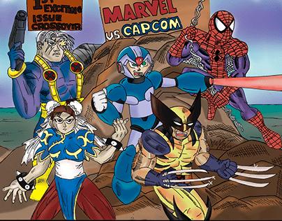 Marvel Vs Capcom Poster Scroll