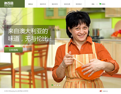 Food Website Design食品网站设计