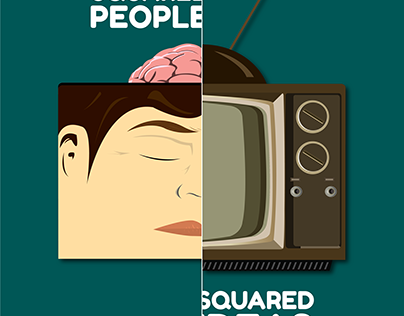Squared People, Squared Ideas - Vector Art