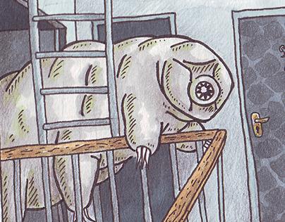 Illustrations for horror stories
