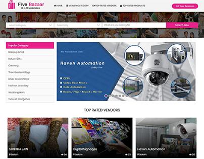 Dynamic website for five bazaar