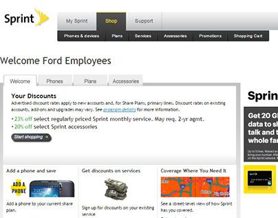 Sprint customized B2B shopping Websites