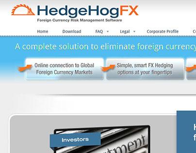 HedgeHogFX bespoke website design & build