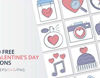 10 Free Valentine's Day Icon