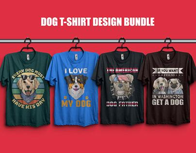 Dog T-Shirt Design Bundle, Best T-Shirt Design
