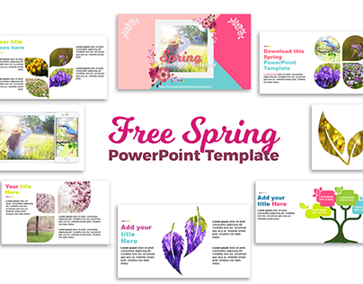 Free PowerPoint Template | Spring Flowers Presentation