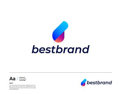 B letter modern logo design - Brand identity - Branding