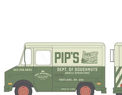 pip's dougnuts mobile unit