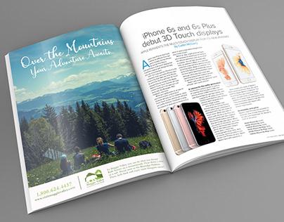 Maggie Valley Magazine Ad & Branding