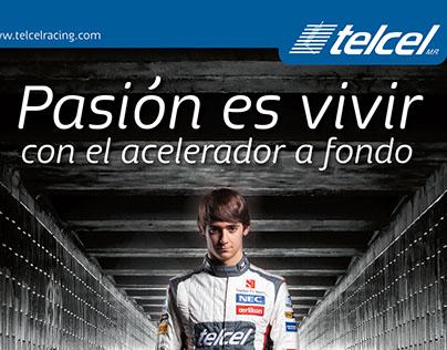 Telcel F1 - Magazine Ad Design