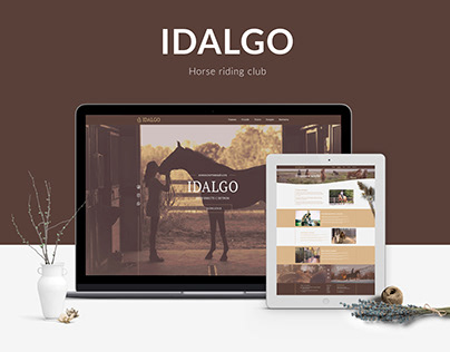 Horse riding club website design