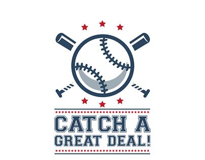 Baseball themed promotion based logo design for digital