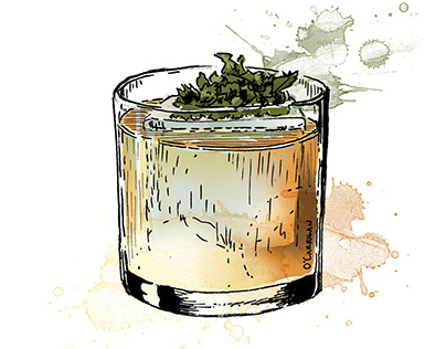 Cocktail Illustrations - Caffé Bartolo