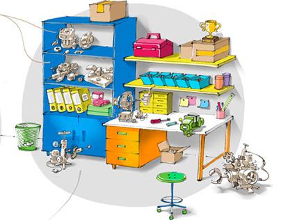 Gecko's Garage cartoon series Concept Art