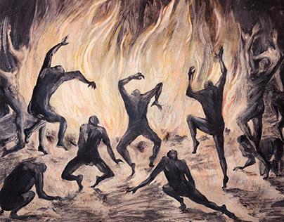 Horrible rite | oil painting
